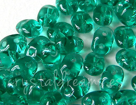 10 gramos Superduo® 2,5 x 5mm - Agujeros:0,8mm Color: EMERALD