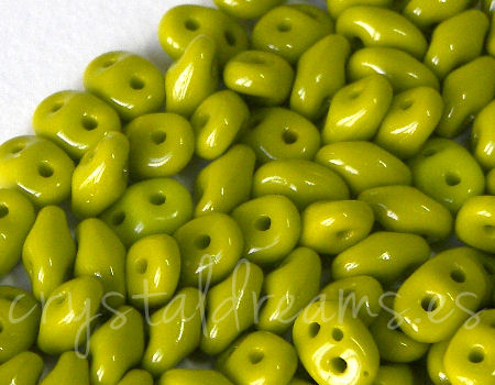 10 gr Superduo® 2,5x5mm Ag:0,8mm OPAQUE OLIVINE
