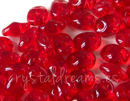 10 gr Superduo® 2,5x5mm Ag:0,8mm RUBY