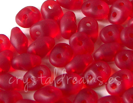 10 gr Superduo® 2,5x5mm Ag:0,8mm RUBY MATE