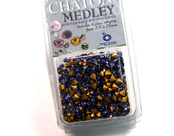 Preciosa® Chaton Medley - 5gr. - 2,5-4,75mm - Tanzanite
