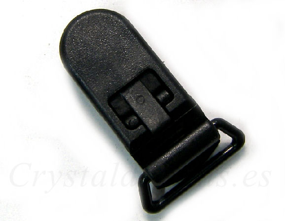 Clip Plastico 36x16mm - color BLACK