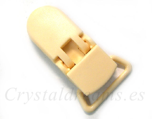 Clip Plastico 36x16mm - color CREAM