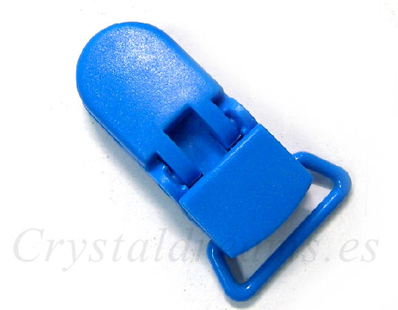 Clip Plastico 36x16mm - color SKY BLUE