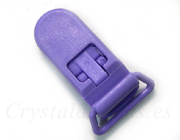 Clip Plastico 36x16mm - color PURPLE