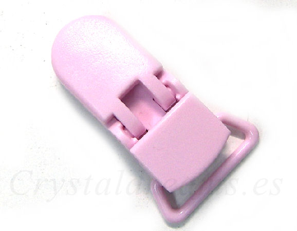 Clip Plastico 36x16mm - color ROSE