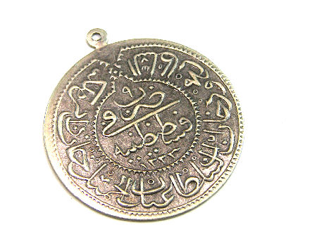 Colgante Arabic coin - 30mm - Agujero: 1mm