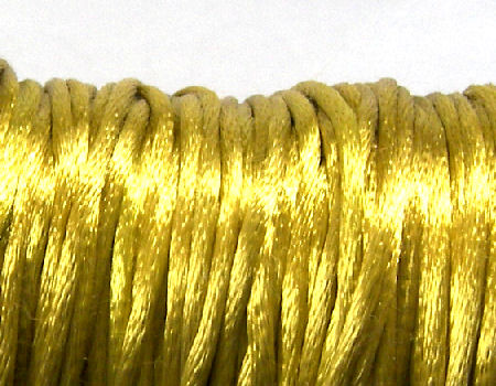 Cola de ratón de Algodón/Rayon 2mm - Antique Gold