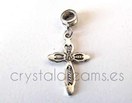 Colgante metal - Cross - 39mm - Agujero: 5mm