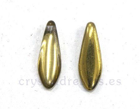 Dagas de Bohemia 5x16mm Agujero: 1mm Color Crystal Amber