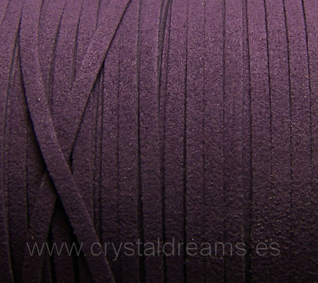 Cordon de Antelina color Dark Violet x 1mt