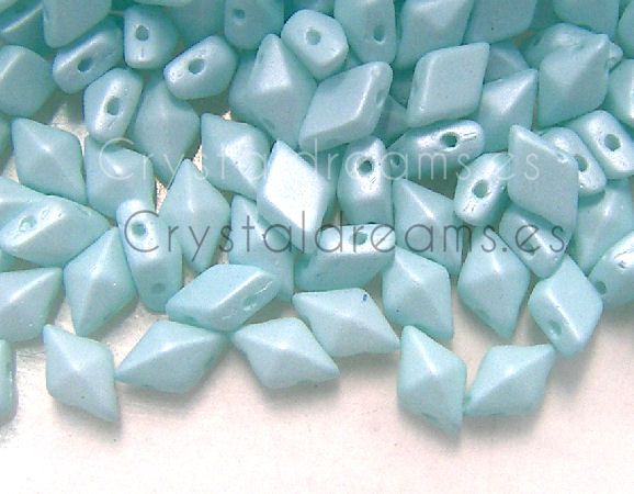 DiamonDUO Beads 8x5mm - 5gr. - Color: AQUA GLOWING