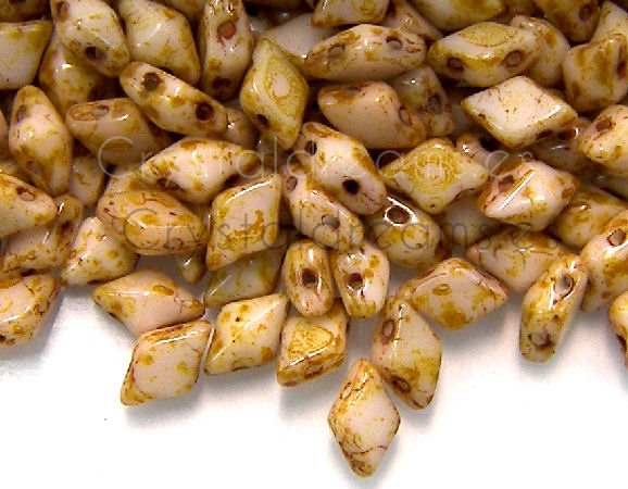 DiamonDUO Beads 8x5mm - 5gr. - Color: BUTTER PECAN
