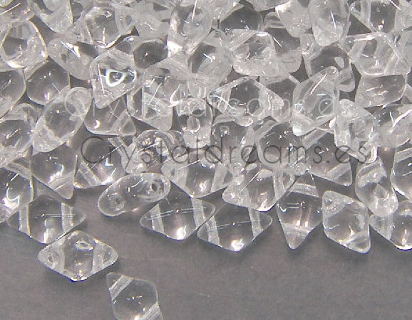 DiamonDUO Beads 8x5mm - 5gr. - Color: CRYSTAL