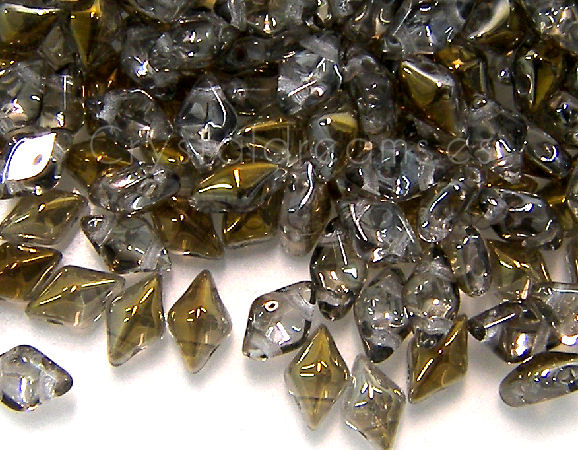 DiamonDUO Beads 8x5mm - 5gr. - Color: CRYSTAL BRONZE CAPRI