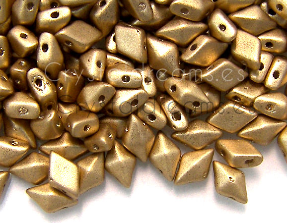 DiamonDUO Beads 8x5mm - 5gr. - Color: GOLD MATTE