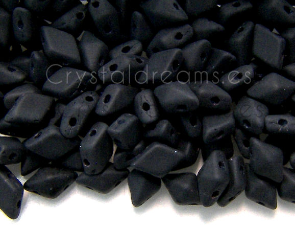 DiamonDUO Beads 8x5mm - 5gr. - Color: JET MATTE