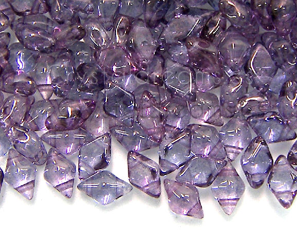 DiamonDUO Beads 8x5mm - 5gr. - Color: LUMI AMETHYST