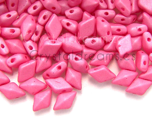 DiamonDUO Beads 8x5mm - 5gr. - Color: MATTE PINK