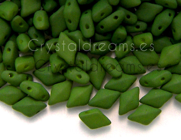 DiamonDUO Beads 8x5mm - 5gr. - Color: MOSS GREEN