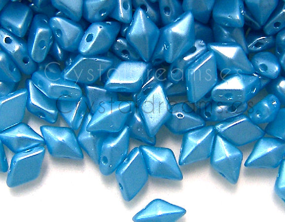 DiamonDUO Beads 8x5mm - 5gr. - Color: PASTEL AQUA