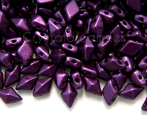 DiamonDUO Beads 8x5mm - 5gr. - Color: PASTEL BORDEAUX