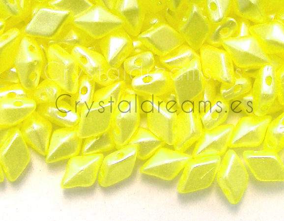 DiamonDUO Beads 8x5mm - 5gr. - Color: PASTEL LEMON