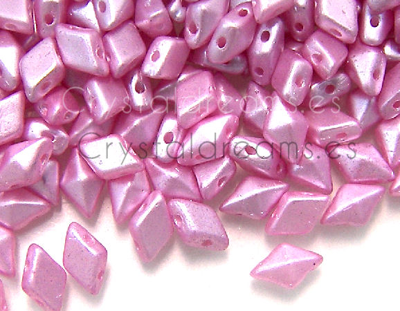 DiamonDUO Beads 8x5mm - 5gr. - Color: PINK AIRY PEARL
