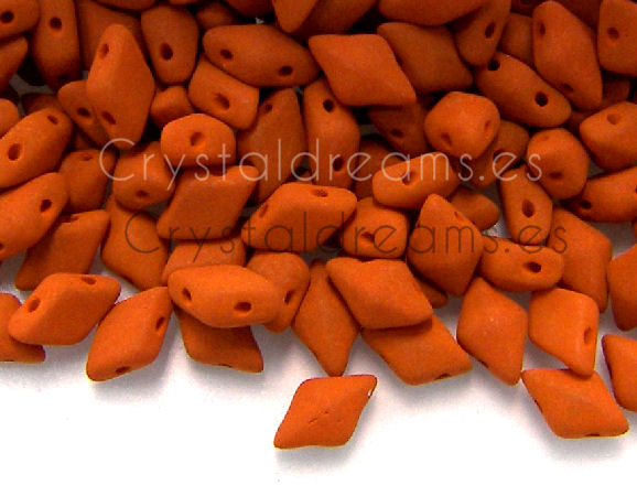 DiamonDUO Beads 8x5mm - 5gr. - Color: PUMPKIN PIE