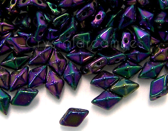 DiamonDUO Beads 8x5mm - 5gr. - Color: PURPLE IRIS