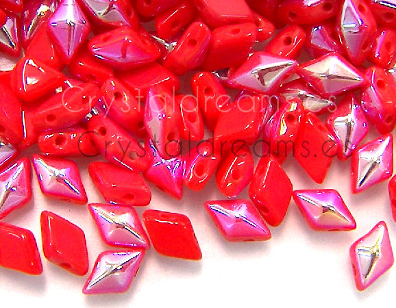 DiamonDUO Beads 8x5mm - 5gr. - Color: RED ORANGE