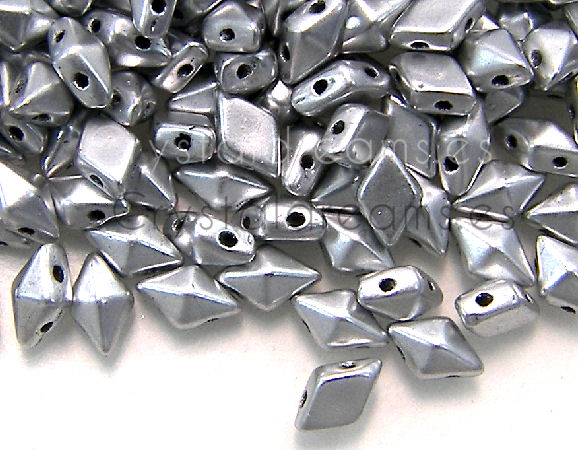 DiamonDUO Beads 8x5mm - 5gr. - Color: SILVER