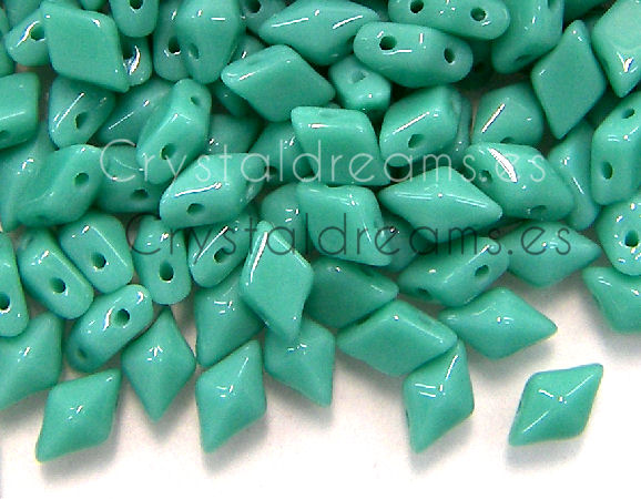 DiamonDUO Beads 8x5mm - 5gr. - Color: TURQUOISE