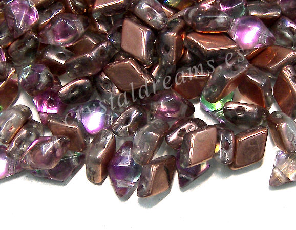 DiamonDUO Beads 8x5mm - 5gr. - Color: VITRAIL COPPER