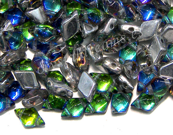 DiamonDUO Beads 8x5mm - 5gr. - Color: VITRAIL BLUE