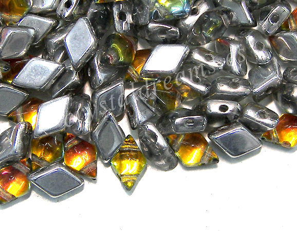 DiamonDUO Beads 8x5mm - 5gr. - Color: VITRAIL TOPAZ