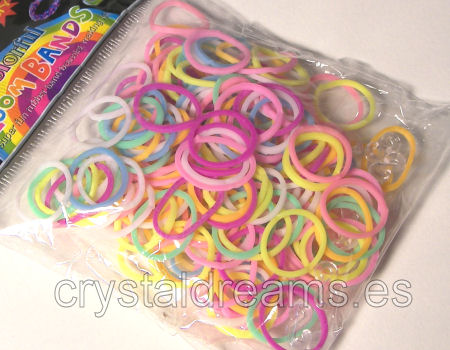 Pack de gomitas MULTICOLOR MIX - Con Ganchillo y Clips