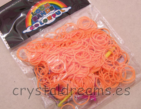 Pack de gomitas ORANGE FLUO - Con Ganchos y Clips