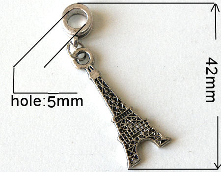 Colgante metal - Eiffel - 42mm - Agujero: 5mm