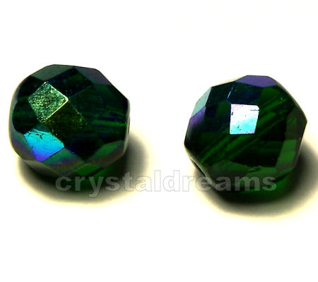 Facetadas 4mm EMERALD AB