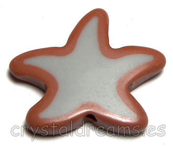 Cuentas acrilicas mod. Starfish 34x30x6mm Aguj: 2mm Brown/Grey