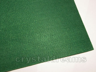 Plancha de fieltro - 3mm espesor - 21x30cm - Green
