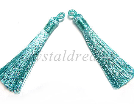 Tassel 75mm - Polyester - Turquoise