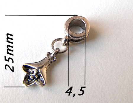 Metal Pendant - Campanula - 25mm - Agujero: 4,5mm