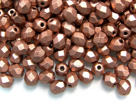 Facetadas 4mm MATTE METALLIC COPPER