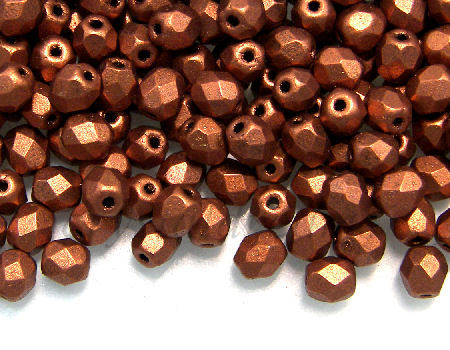 Facetadas 4mm MATTE METALLIC DARK COPPER