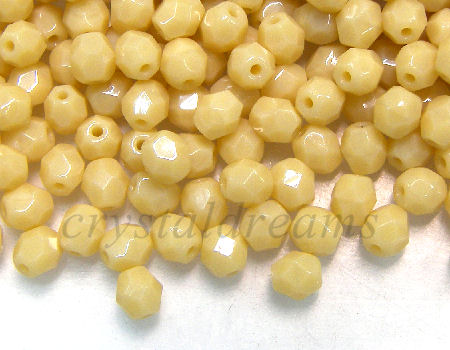 Facetadas 4mm OPAQUE IVORY