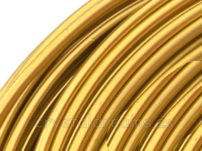 12 metros CABLE DE ALUMINIO - 1,5mm - GOLDEN YELLOW