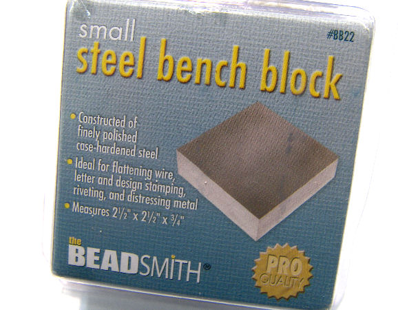 Base o Bloque de metal para grabado 65x65x18mm 600gr. Bead Smith