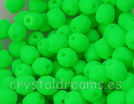 Facetadas 6mm GREEN NEON MATE